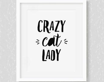 Crazy Cat Lady - Art Print