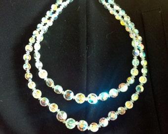 Elegant Crystal double strand Necklace