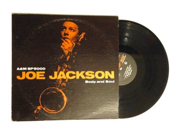 20% OFF SALE Joe Jackson Body And Soul LP Album Jazz New Wave Cha Cha The Verdict Be My Number Two 80s Vinyl Record