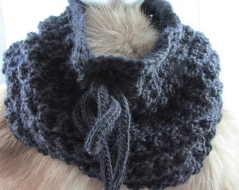Black Wool Cowl