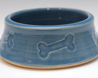 Blue Bone Dog Bowl