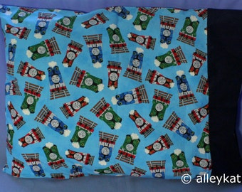 Pillowcase Made with Thomas the Tank Engine Fabric, Standard size, Cotton