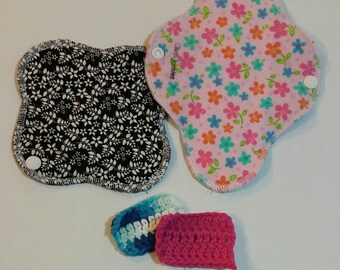 Just try one!  1 Light cloth pad and 1 Regular absorbency tampon