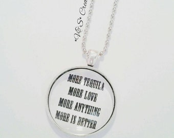 Collana necklace cabochon  Grey's Anatomy More tequila more love more anything more is better Cristina Yang Meredith Grey