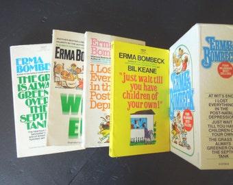 Vintage paperback Erma Bombeck paperbacks - humor books - funny comical housewife book set - Erma bombeck book set - humorous book set