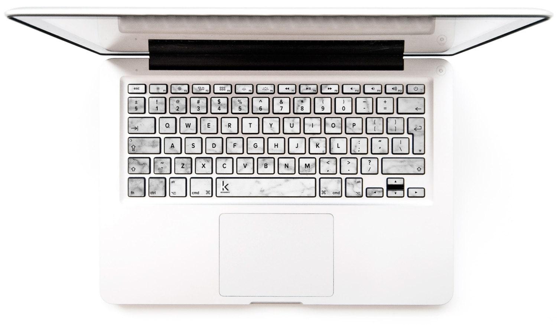 Macbook keyboard stickers decal White marble macbook keyboard