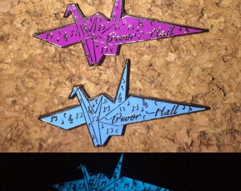 Trevor Hall Origami Crane Pins