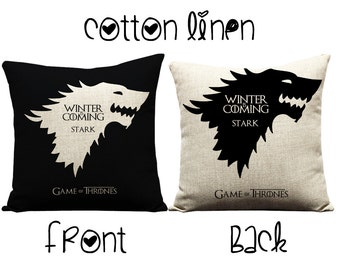 Games of Thrones, George rr  Martin, Song of Ice and Fire, Westeros, TV shows, Linen, Winter, throw pillows, decorative pillows, birthday