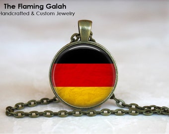 GERMAN Flag Pendant • Vintage German Flag • Flag of Germany • Bundesflagge • Handelsflagge • Gift Under 20 • Made in Australia (P0418)