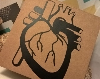 Anatomical Heart Valentines Card