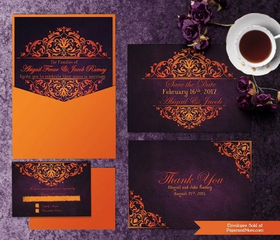 printable halloween wedding invitation templates invitation