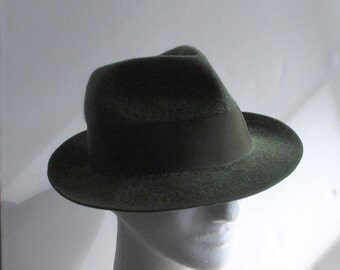 Man's German Hunting Hat Loden Green Wool Felt