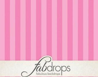 3x3 Pink Stripes Photography Backdrop - Fab Vinyl 3x3 ft (FV2035)
