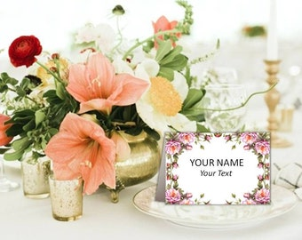 Printable Wedding place cards, place cards printable, place card flowers, place cards, place cards wedding, name cards, Instant Download