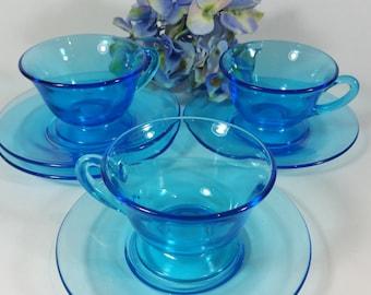 Pale Blue Tea Cup and Saucer Set