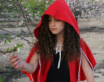 Little red riding hood costume, Little red ridinghood costume, little red cape, red cape, red hood