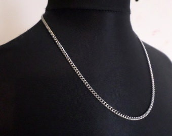 Plain Stainless Steel Necklace Chain - Minimalist Stainless Steel Jewelry
