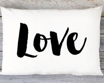 Love Throw Pillow Cover - Lumbar Pillow Cover - By Aldari Home