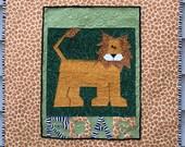Paper Pieced ROAR Lion Quilt in PDF