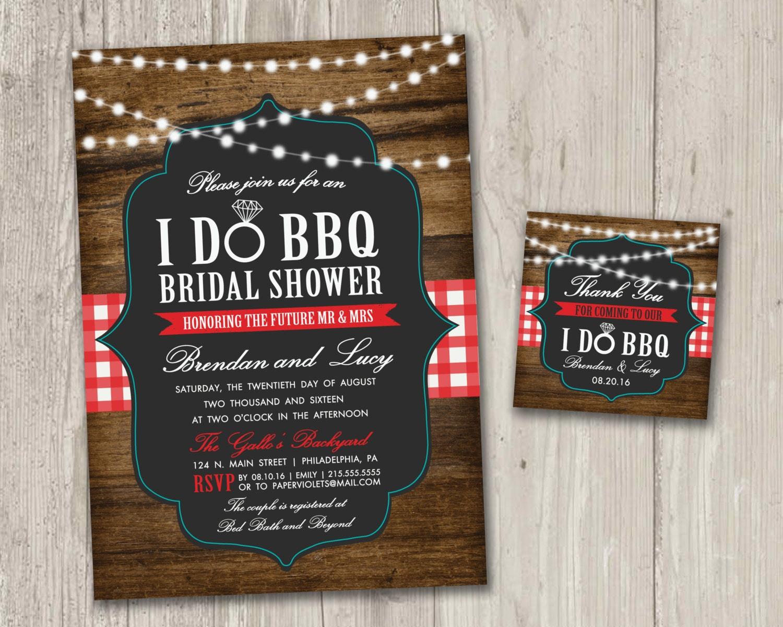 Backyard Bbq Wedding Invitations: I Do BBQ Bridal Shower Invitations Backyard Wedding