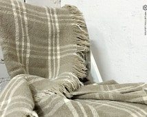 Sold out-Linen Bed Cover- Stonewashed Bed Blanket - Dusty Linen Bed Cover- Brown Flax Throw- Country-Modern Style Quilt- Linen Bedspread