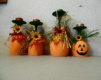 Fall Wine Glass Candle Holders
