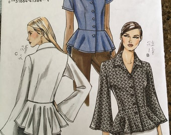 Adorable peplum blouse pattern NEW/UNCUT sz 16 - 22