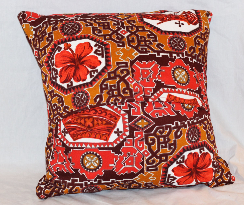 Tiki Pillow Cover Mid Century Modern Pillow by CherryTiki