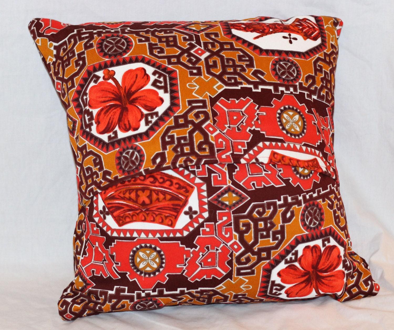 Mid Century Pillow Covers : Tiki Pillow Cover Mid Century Modern Pillow by CherryTiki