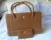 Vintage Pierre Balmain hand bag w wallet purse handbag authentic designer handbag top handle bag shoulder bag w monogrammed logo unused cond