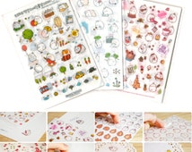 Molang Sticker Ver.1+2+3 Lot 22 Sheets Diary Planner Scrapbook Book Decor Tape Anime Illust Cute Kawaii School Office Korean Stationery
