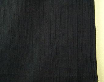 1.5 yards black crinkle cotton vintage