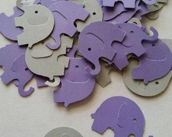 Elephant, Elephant Baby Shower, Purple Elephant Baby Shower, Elephant  Party, Elephant Confetti