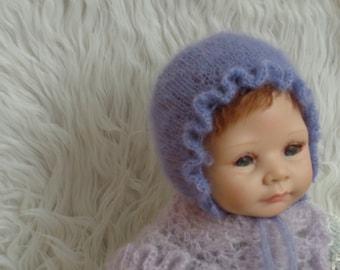 Newborn Bonnet.Classic Bonnet.Baby Boy Bonnet.Beautiful Bonnet.Photography Prop.Knitted Bonnet.