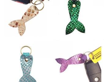 Keychain /  mermaid keychain / key fob mermaid tail