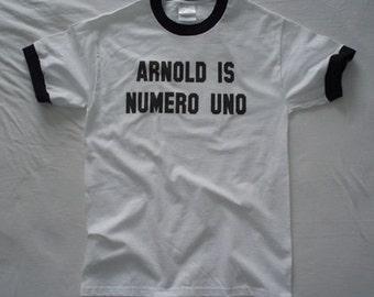 Arnold Is Numero Uno t-shirt classic pumping iron mr olympia bodybuilding schwarzenegger sizes XS-XL