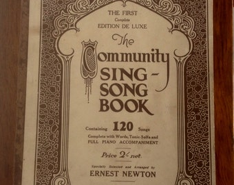 Vintage Song Book. The Community Sing Song Book. 1920's.
