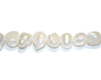 Freshwater Pearls, Potato Beads, Potatoe Pearls, Cultured Pearls, Ivory Pearls, 8mm Beads, Brides, Bridal, Wedding Supplies, BAROQUE PEARL