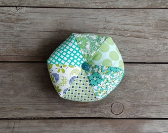 Green Hexagon Pin Cushion - Sewing Pin Cushion