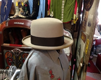 Vintage 40s/50s Stetson Homberg sz 6 7/8 in Ex. Cond.