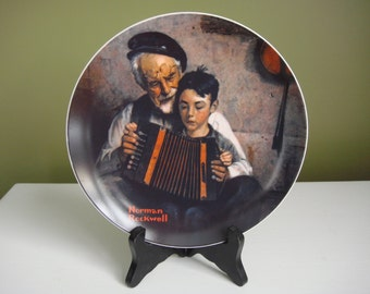 Vintage Collector Plate - Norman Rockwell - The Music Maker - 1981 - Epsteam