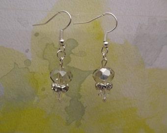 Elegant Moonlight Crystal Short Dangle Fashion Earrings - Ready to Ship