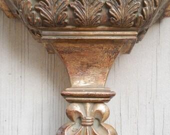 Ornate Fleur de lis Gold Wall Shelf!
