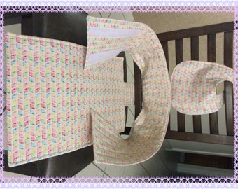 Portable High Chair, Travel Chair, Anywhere Travel Chair, Fabric High Chair,  for Baby & Toddler, Reversible, Colorful Snails