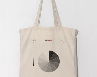 Canvas tote bag / Daily Bag / Graphic Design / 1 Day 1 Bag/ Black to White
