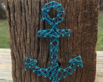 Small Anchor String Art