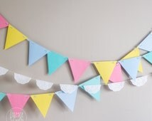 Colorful garland party decor, Birthday Party, Baby Shower, Smash cake party. colorful decor.