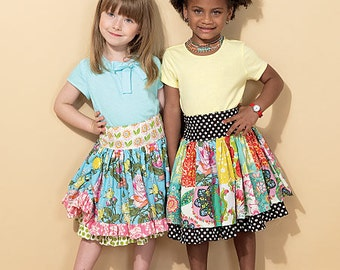 McCall's Sewing Pattern M7312 Children's/Girls' Ruffled Colorblock and Patchwork Skirts