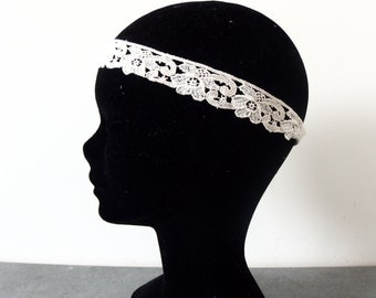 Old lace for Bohemian wedding headband
