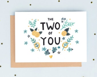 The Two of You Wedding Card